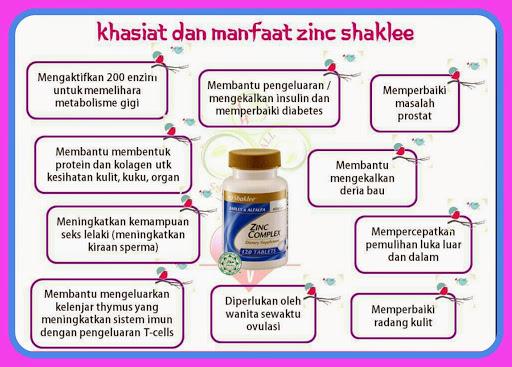 Kebaikan Zink Untuk Kesihatan | Zinc Complex Shaklee
